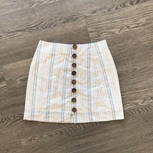 3 for $30🌸 Ava Stripped Skirt with Wooden Buttons